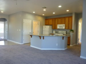 Breakfast bar plus dining area, living with fireplace, inside laundry and more!